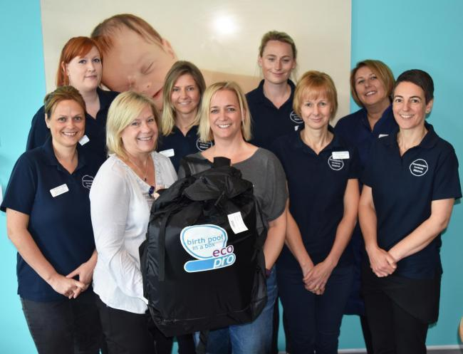 DONATION: Sapphire Team from Worcestershire Royal Hospital with Clare Tebbett