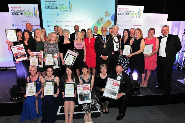 SMILES: The winners of the Worcester News Worcestershire Education Awards 2019. Pic Jonathan Barry 20.6.19