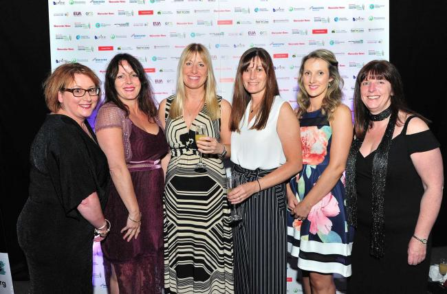 Staff from Abbey Park First and Nursery at the Worcester News Worcestershire Education Awards 2019, held at the University of Worcester Arena. Pic Jonathan Barry 20.6.19.