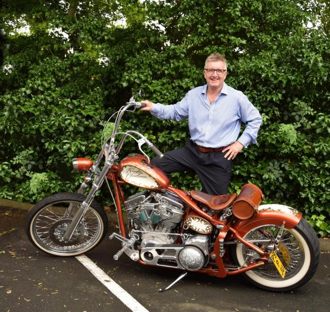 CHOPPER: Peter Ormerod with his award-winning creation,The Naughty Gentleman