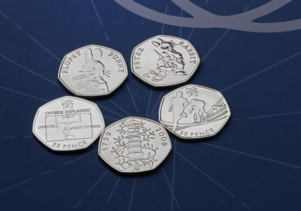 Droitwich Advertiser: The rarest 50p coins. Credit: Royal Mint/PA Wire