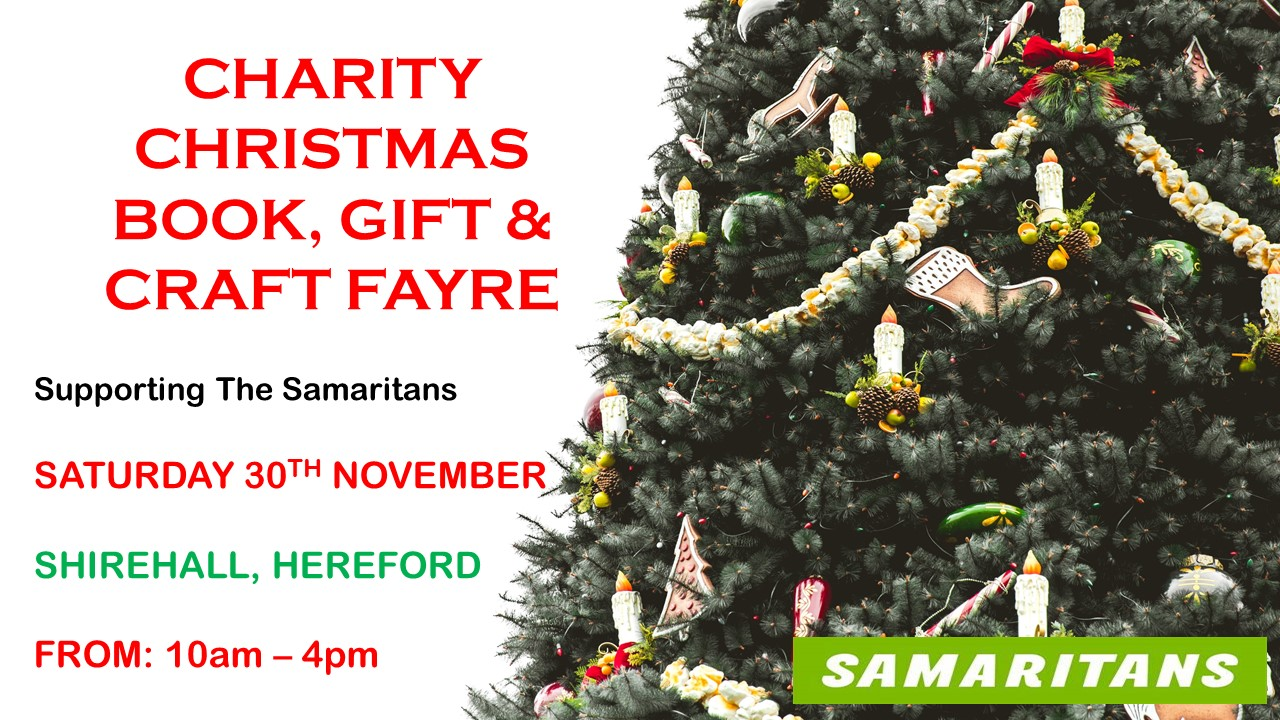 Charity Christmas Book, Gift & Craft Fayre
