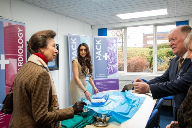 Princess Anne visits Bromsgrove-based medical innovation company Kimal.