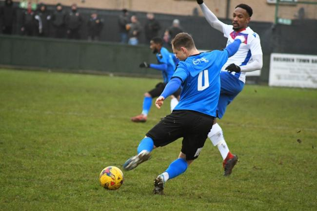 Stourbridge's Tom Tonks in action. Picture courtesy of Hawkins Images Photography