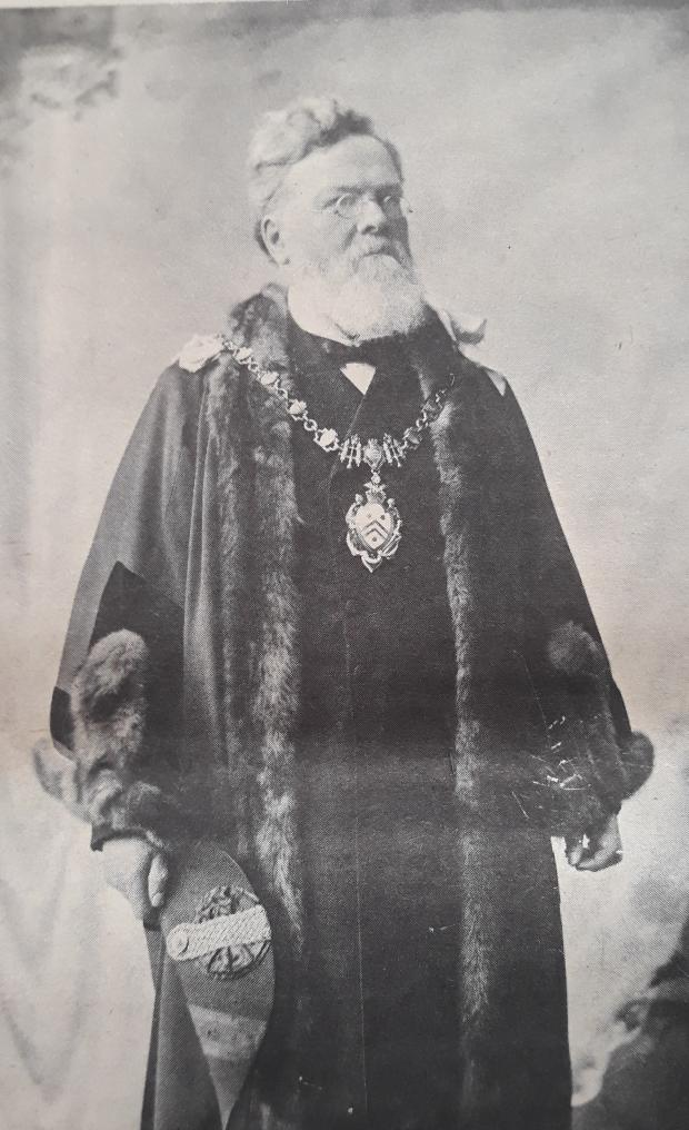 Droitwich Advertiser: Edward Parry, founder of The Shuttle, in his mayoral robes. He was Mayor of Kidderminster in 1898 and 1899
