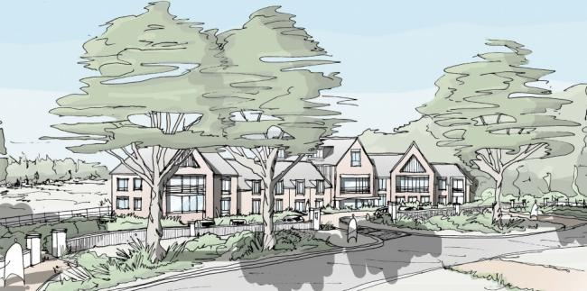 CARE HOME: An artist's impression of a new 80-bed care home in Northwick on the edge of Worcester