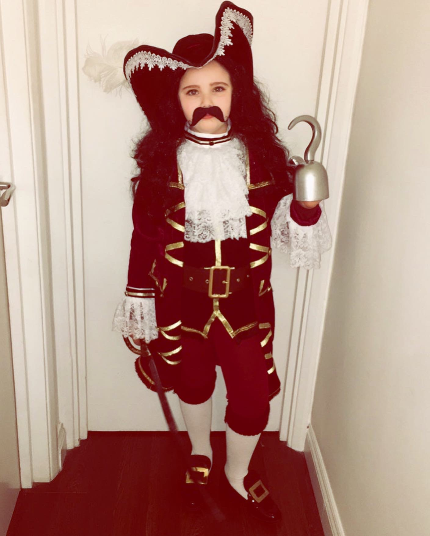 Droitwich Advertiser: Delilah age 8 as Captain Hook her costume is hand made head to toe and she helped her mum make it!