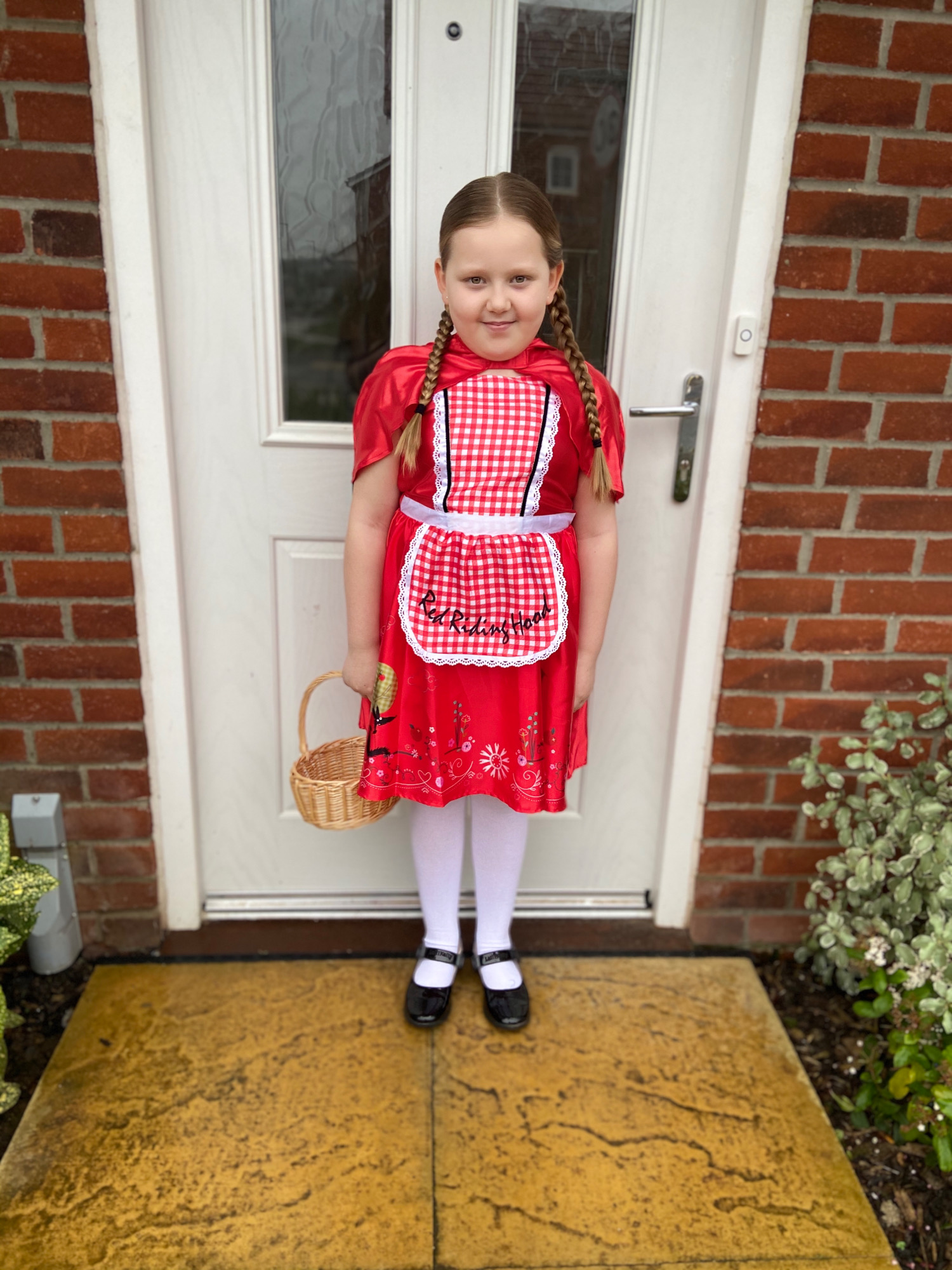Droitwich Advertiser: Maisy age 8 being little red riding hood for world book day 2020