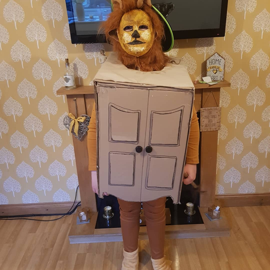 Droitwich Advertiser: Elliott 10 as BB8 starwarsRosie 12- the lion the witch and the wardrobe. Both attend St Bedes middle school.