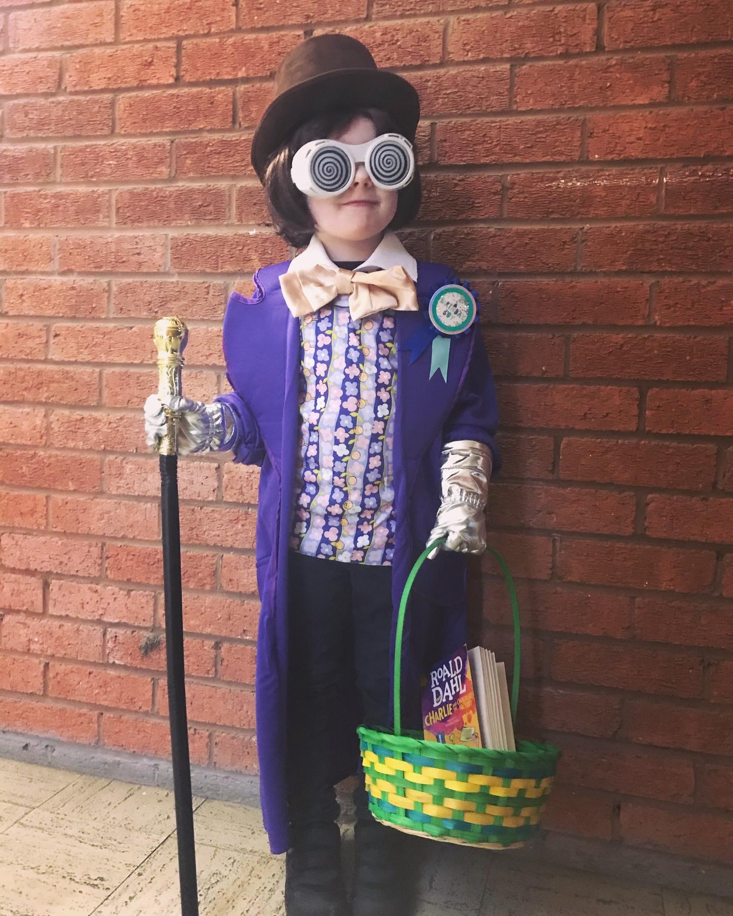 Droitwich Advertiser: Freddie Worthington-Phillips aged 5 (his birthday is today!) dressed as Willy Wonka. St John's Primary kidderminster