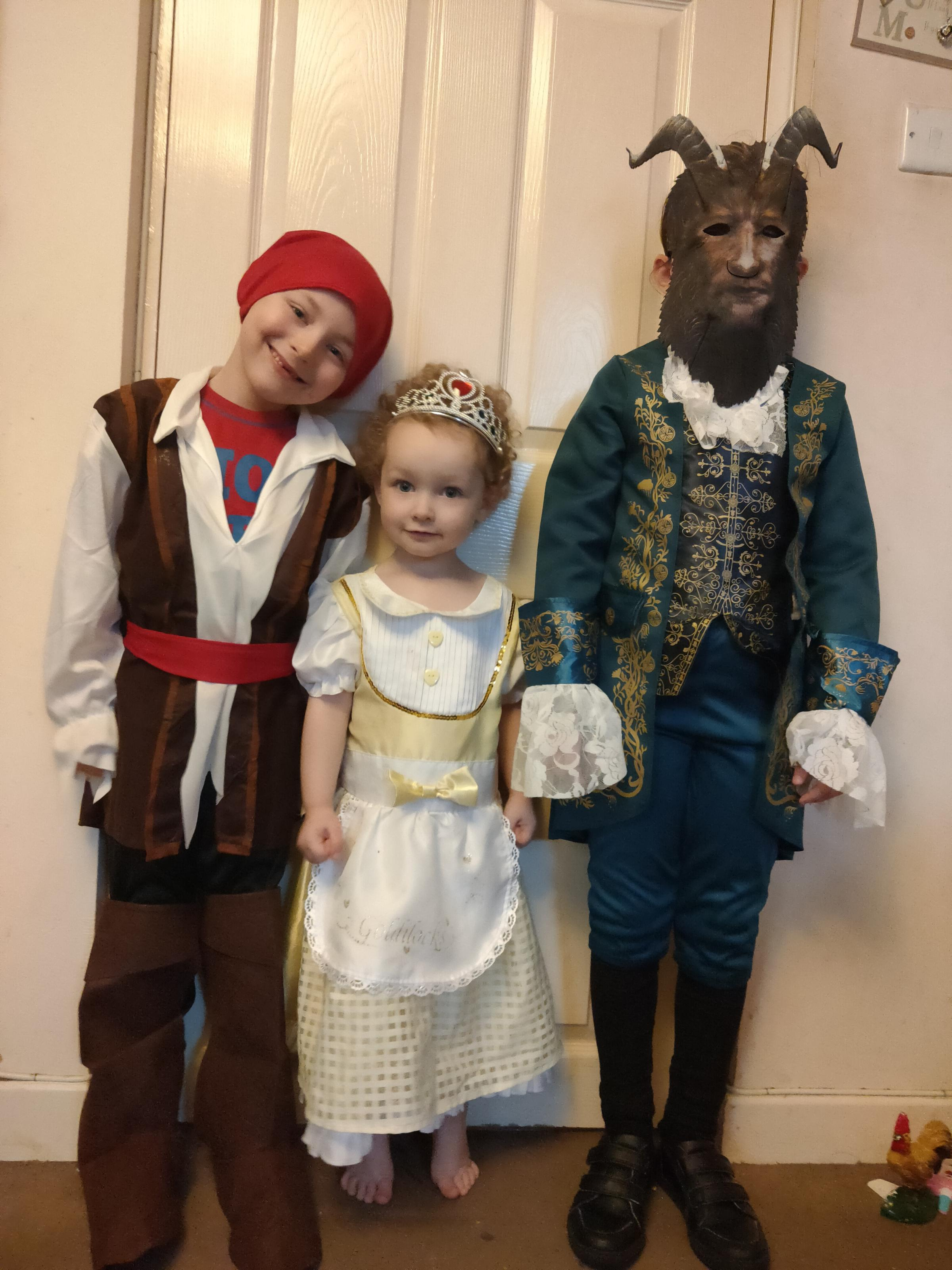 Droitwich Advertiser: World book day 2020The BeastCaptain JackGoldilocks