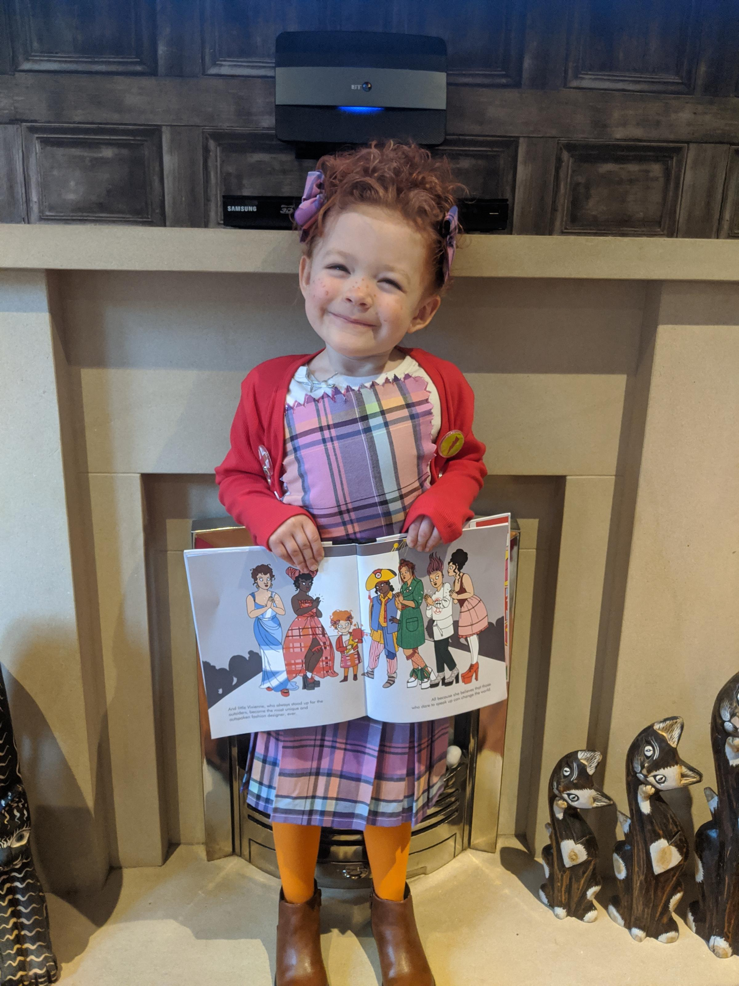 Droitwich Advertiser: Nancy Stokes- age 5 ,was pleased her picture has been seen by the author and the illustrator of her book on Instagram