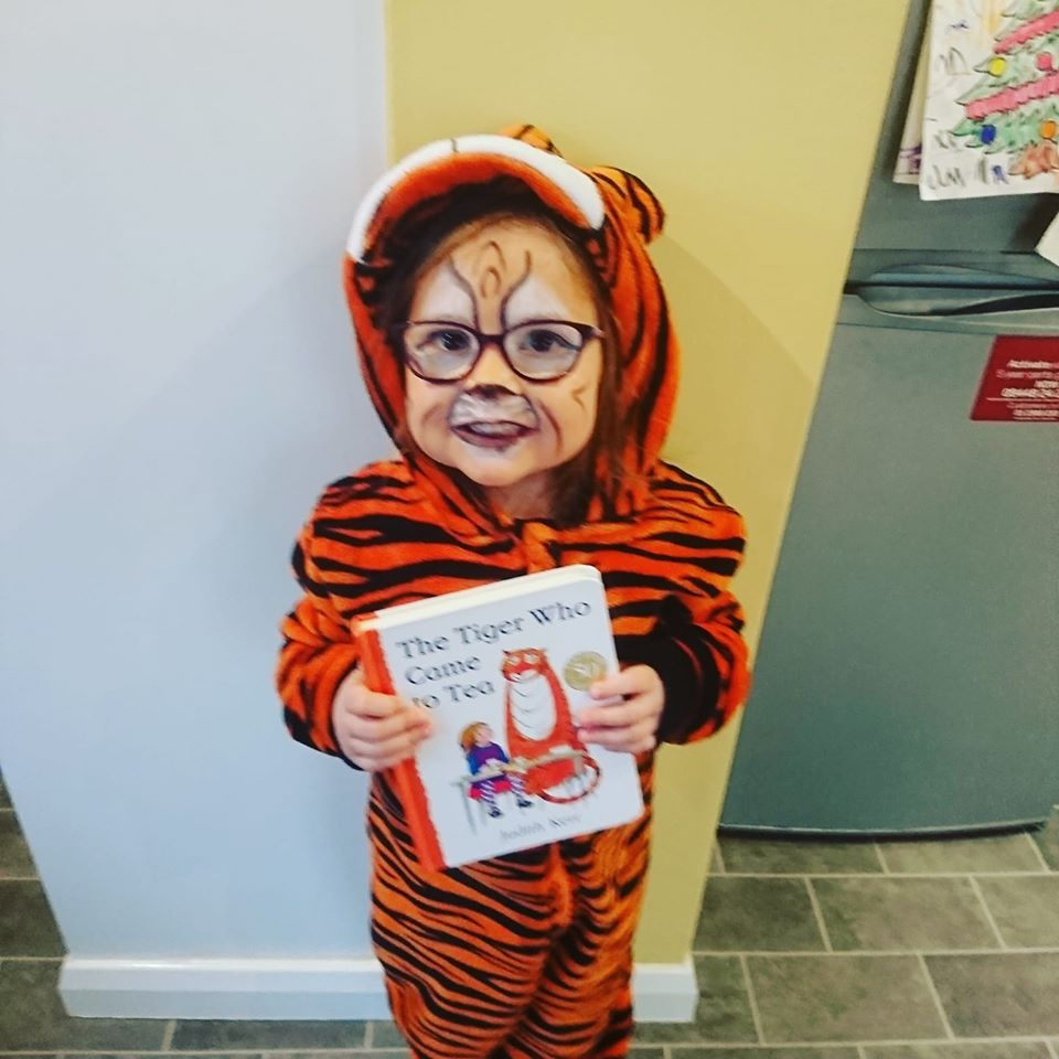 Droitwich Advertiser: Matilda, age 5. From St Catherine's Primary School. Dressed as The Tiger Who Came To Tea.