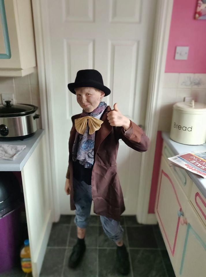 Droitwich Advertiser: Carsen as Dodger from Oliver twist