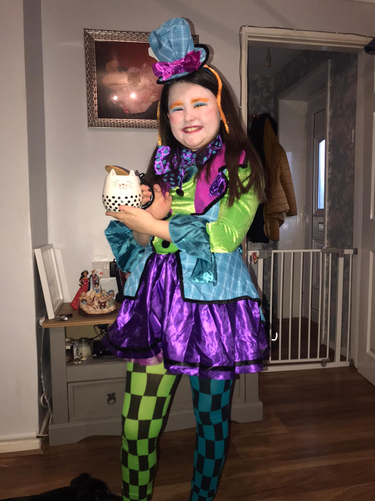 Droitwich Advertiser: My girls Mia age 7 cheshire catMaisie age 9 the mad hatter