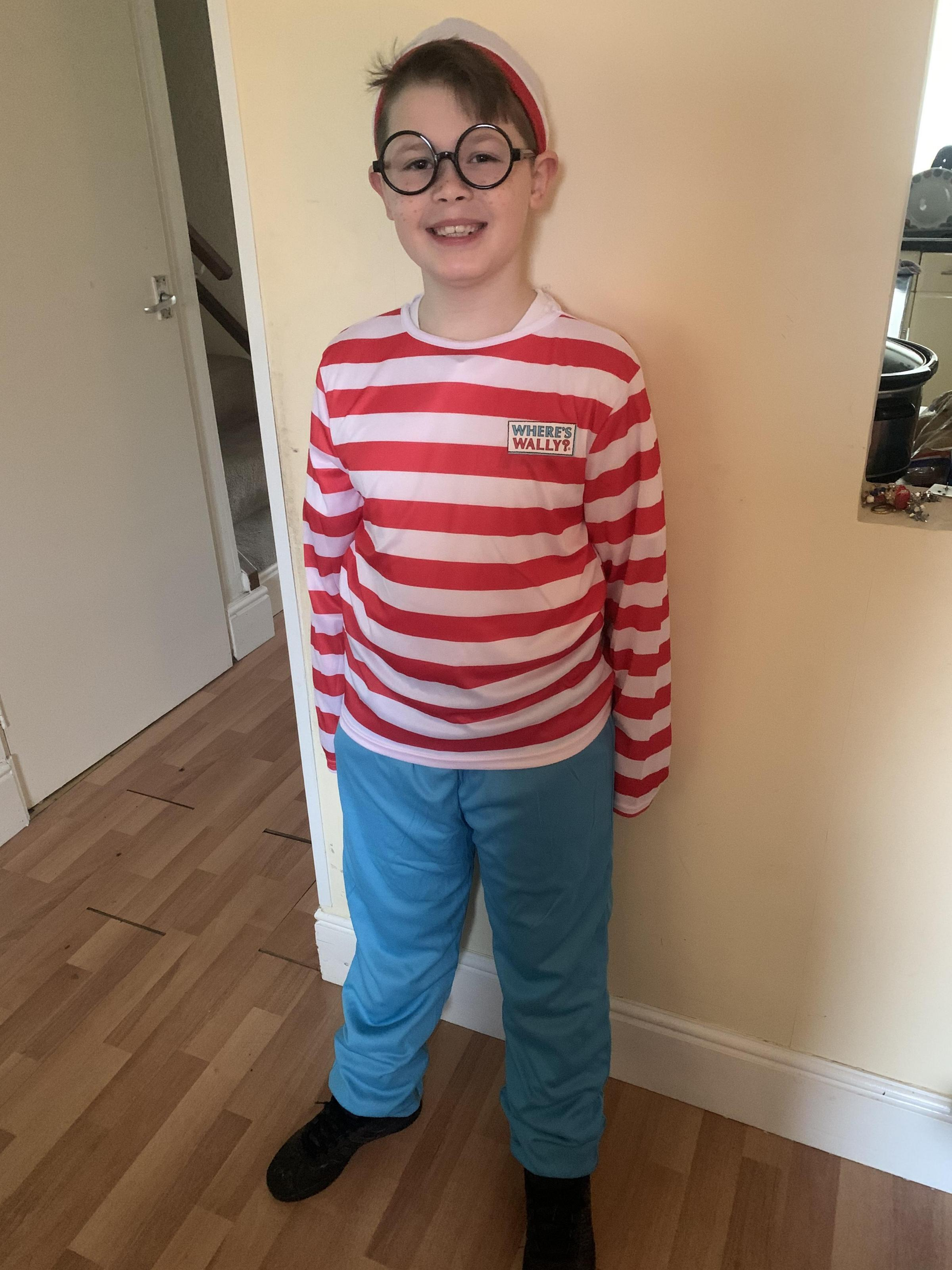 "Droitwich Advertiser: This is Harry Hathaway aged 9 of St Bartholomews Church of England Primary Academy, Dressed as ""Wheres Wally"" :-)"