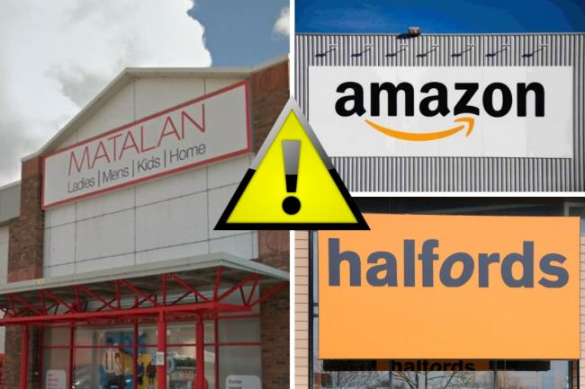 Amazon, Halfords and Matalan issue recalls and safety alerts on these products. Picture: Newsquest