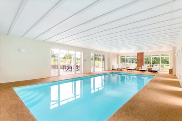 Droitwich Advertiser: There is a pool in the property (Photo: Zoopla)