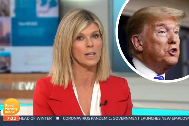Good Morning Britain: Kate Garraway criticises Donald Trump hospital drive-past. Pictures: ITV GMB/PA Wire