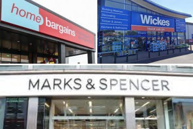 stores will be shut for longer this Christmas. Picture: Home Bargains/Wickes/M&S/Canva
