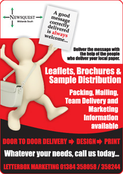 Droitwich Advertiser: leaflet distibution promotion