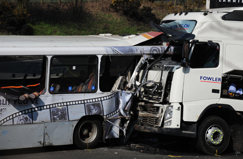 Bus driver arrested over fatal M5 smash