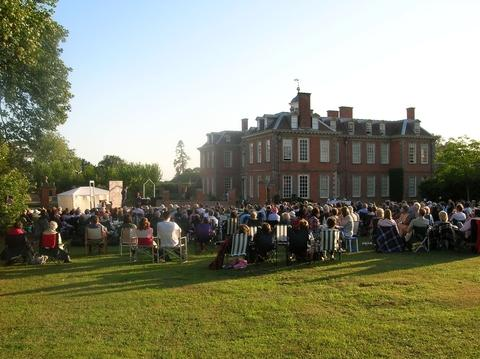 A summer evening's entertainment at Hanbury Hall and Gardens.