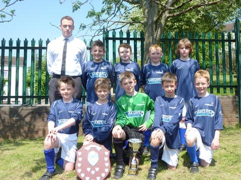 Kings of the city: St James' Catholic Primary School won the All-Birmingham Schools Football Championships.