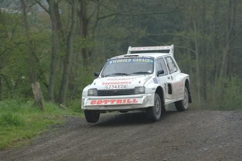 l Rally good show: the MG driven by Geoff Cottrill and Nathan Crewe in action.