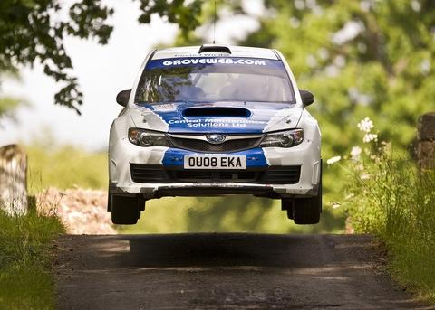 Droitwich Advertiser: Out to Impreza: Julian Barnett in action in his Subaru.
