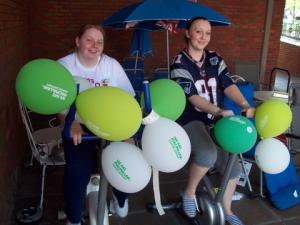 Workers from Droitwich's Wilkinson store raise cash for Macmillan Cancer Support.
