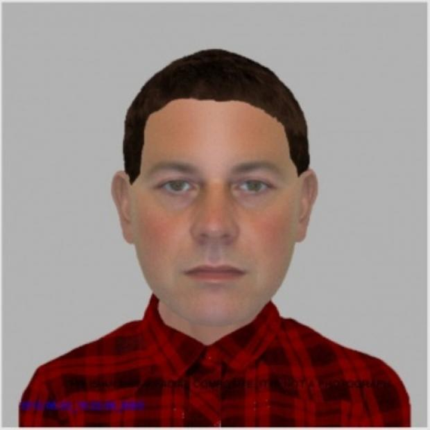 The e-fit image of the man police want to trace in connection to distraction burglary in Droitwich.