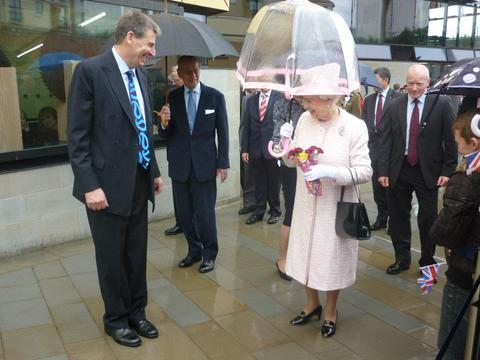 The Queen visiting Worcester