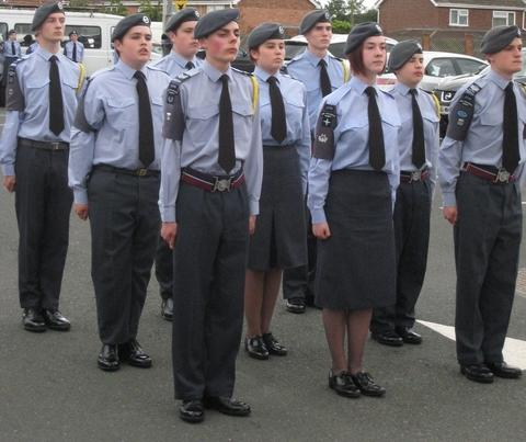 Members of Droitwich Aor cadets perform at Wychavon District Council's Civic Centre in Pershore.