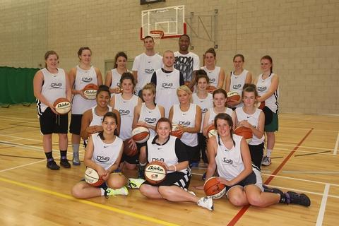 Hoop dreams: Bromsgrove Bears with Team GB skipper Drew