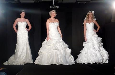 Droitwich Advertiser: Bridal style: Gowns modelled on the catwalk at the spring show at Worcester Rugby Club.