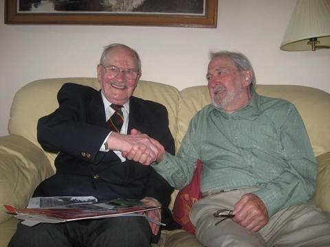 Peter Hill and Norman Price are reunited after 67 years.