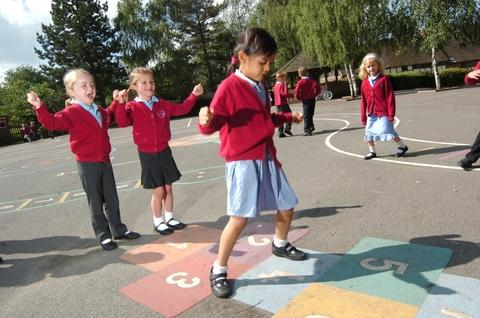 New friends: Pupils from St Peter's CE First School enjoyed various activities during friendship week. Ref:s