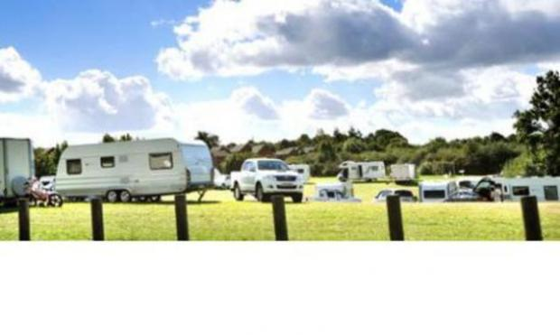 Showstoppers: Travellers have set up camp on land off Ombersley Way, Droitwich, forcing the circus to cancel shows. Picture by John Anyon.