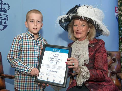 Daniel Birch with Penelope Lewis, High Sheriff of Worcestershire.