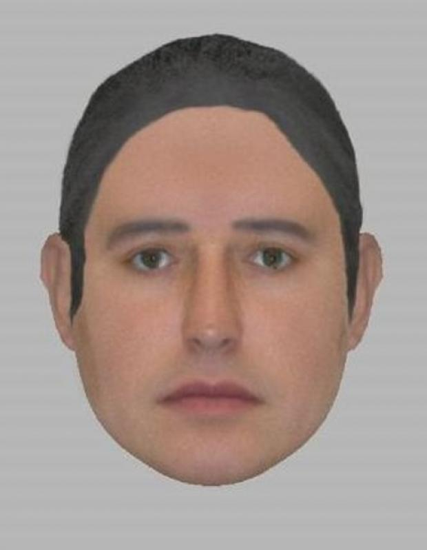 An e-fit image of a man police would like to speak to about the crimes