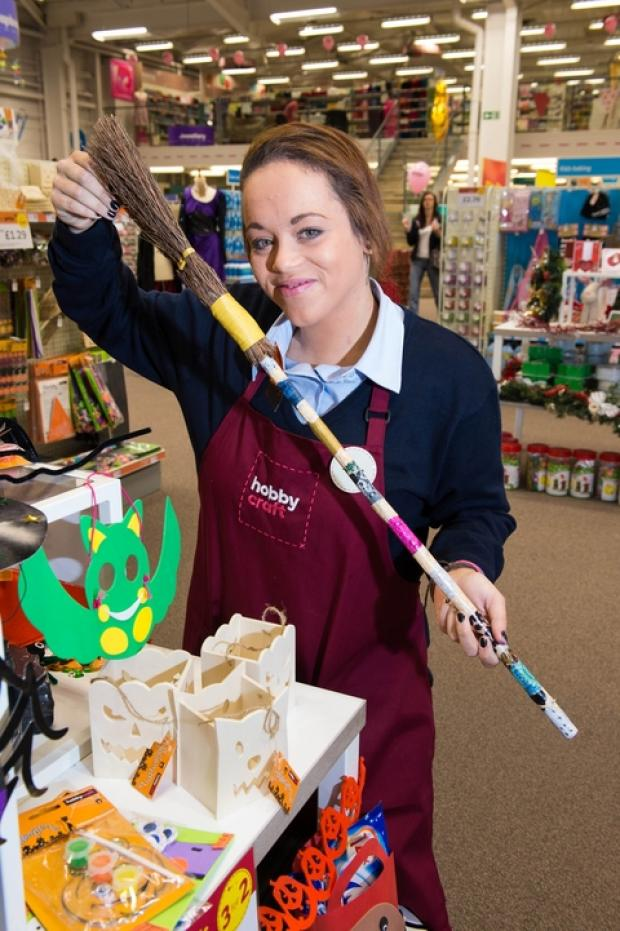 Ashley Estcourt from Hobbycraft Droitwich prepares for the Halloween events.