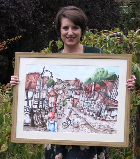 Artist helps put Droitwich on the map