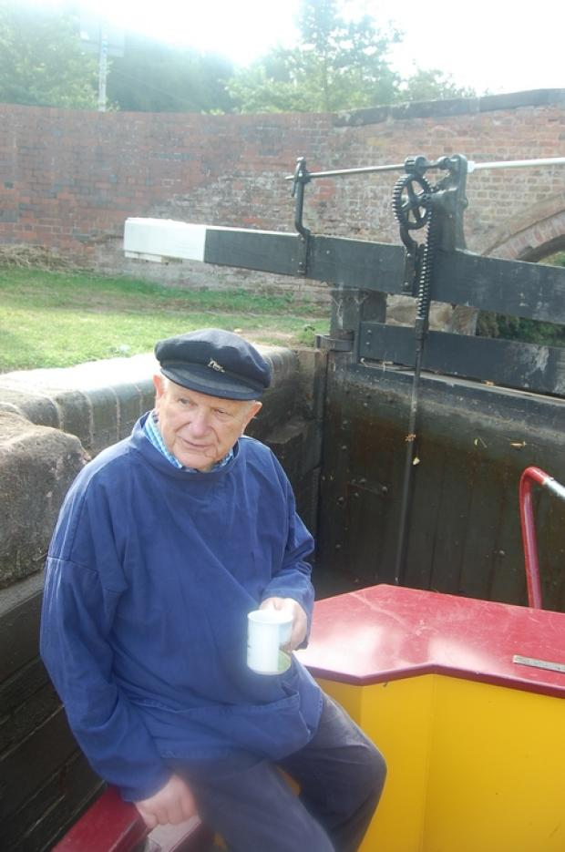 Max Sinclair has been honoured for helping reopen the town's canal network