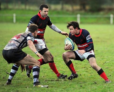 Droitwich Advertiser: On the attack: Bromsgrove's Aaron Higgins.