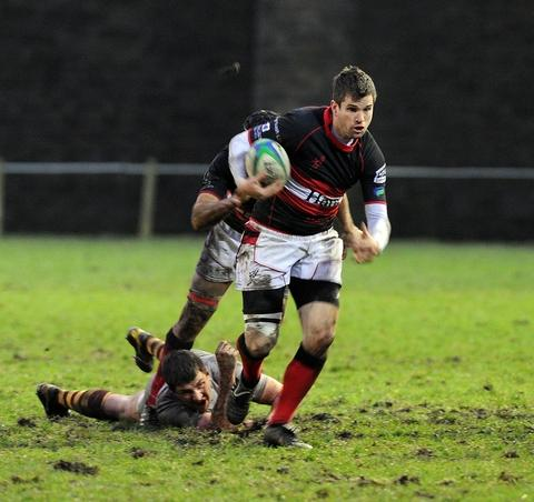 Vital: Jon Critchlow scored a vital try for Bromsgrove. Picture: PETE JEPSON