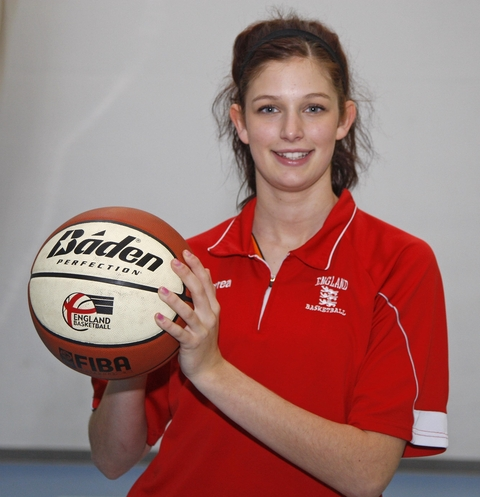 All set for Australia: Becky Taylor, 16, will represent GB at the Australian Olympic Youth Games.