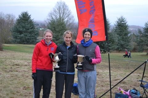 Leaders: Bromsgrove and Redditch AC trio Katy Anderson, Tamara Ball and Helen Russell won the ladies team event.