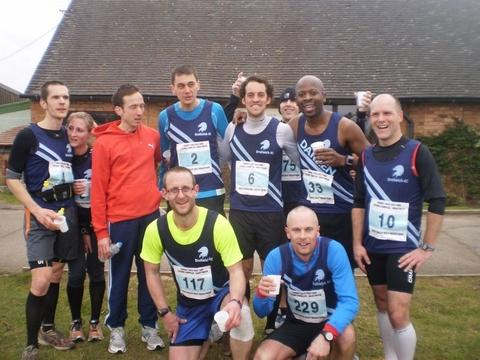 Members of Droitwich Athletics Club after finishing this year's half marathon.