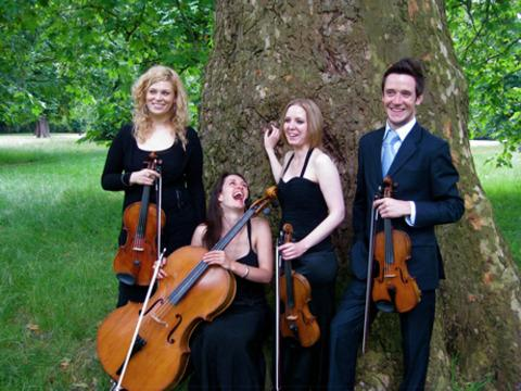 The Cavaleri String Quartet will perform in Droitwich.